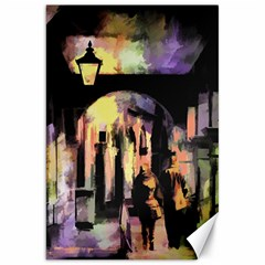 Street Colorful Abstract People Canvas 20  X 30