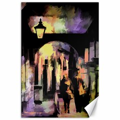 Street Colorful Abstract People Canvas 24  X 36