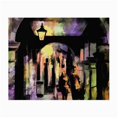 Street Colorful Abstract People Small Glasses Cloth (2 Side)