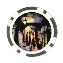 Street Colorful Abstract People Poker Chip Card Guard