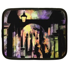 Street Colorful Abstract People Netbook Case (large)