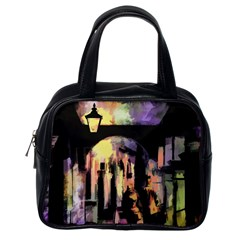 Street Colorful Abstract People Classic Handbags (one Side)