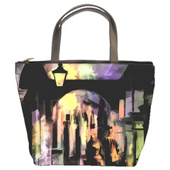 Street Colorful Abstract People Bucket Bags