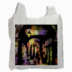 Street Colorful Abstract People Recycle Bag (two Side)