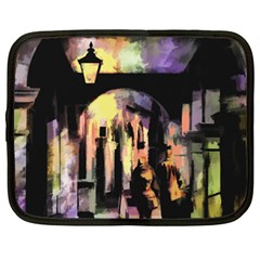 Street Colorful Abstract People Netbook Case (xxl)