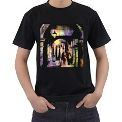 Street Colorful Abstract People Men s T-Shirt (Black)