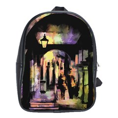 Street Colorful Abstract People School Bags(large)