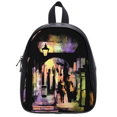 Street Colorful Abstract People School Bags (small)
