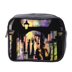 Street Colorful Abstract People Mini Toiletries Bag 2-Side
