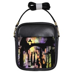 Street Colorful Abstract People Girls Sling Bags