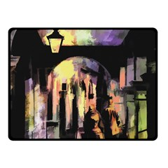 Street Colorful Abstract People Fleece Blanket (small)