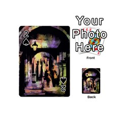 Street Colorful Abstract People Playing Cards 54 (mini)