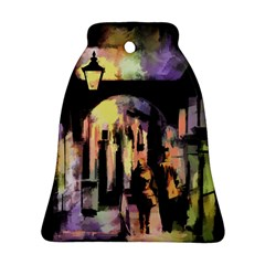 Street Colorful Abstract People Bell Ornament (two Sides)