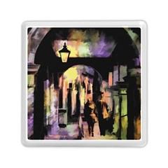 Street Colorful Abstract People Memory Card Reader (square)