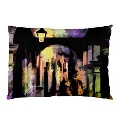 Street Colorful Abstract People Pillow Case (two Sides)