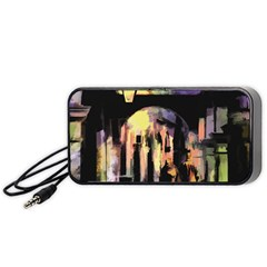 Street Colorful Abstract People Portable Speaker (black)