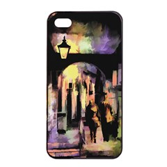 Street Colorful Abstract People Apple Iphone 4/4s Seamless Case (black)