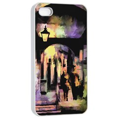 Street Colorful Abstract People Apple Iphone 4/4s Seamless Case (white)