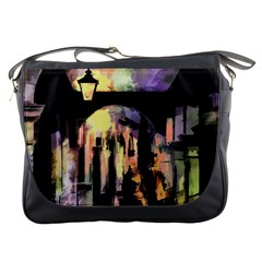 Street Colorful Abstract People Messenger Bags