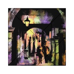 Street Colorful Abstract People Acrylic Tangram Puzzle (6  X 6 )