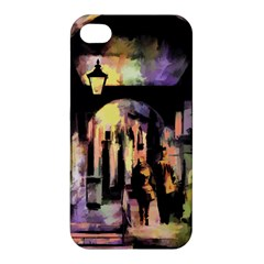 Street Colorful Abstract People Apple Iphone 4/4s Premium Hardshell Case