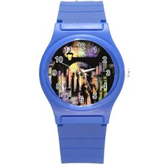 Street Colorful Abstract People Round Plastic Sport Watch (s)