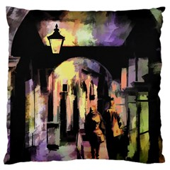Street Colorful Abstract People Large Cushion Case (one Side)