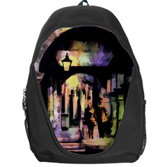 Street Colorful Abstract People Backpack Bag