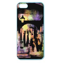 Street Colorful Abstract People Apple Seamless Iphone 5 Case (color)