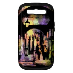 Street Colorful Abstract People Samsung Galaxy S Iii Hardshell Case (pc+silicone)