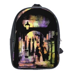 Street Colorful Abstract People School Bags (xl)