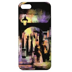 Street Colorful Abstract People Apple Iphone 5 Hardshell Case With Stand