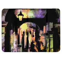 Street Colorful Abstract People Samsung Galaxy Tab 7  P1000 Flip Case