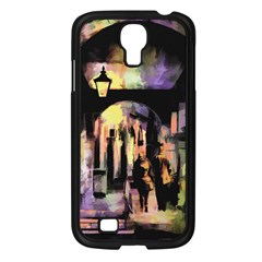 Street Colorful Abstract People Samsung Galaxy S4 I9500/ I9505 Case (black)