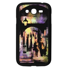 Street Colorful Abstract People Samsung Galaxy Grand Duos I9082 Case (black)