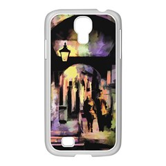 Street Colorful Abstract People Samsung Galaxy S4 I9500/ I9505 Case (white)