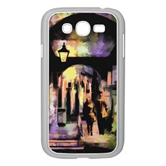Street Colorful Abstract People Samsung Galaxy Grand Duos I9082 Case (white)
