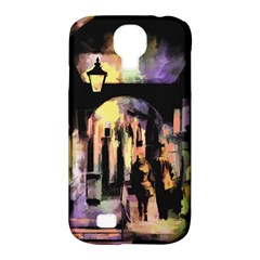 Street Colorful Abstract People Samsung Galaxy S4 Classic Hardshell Case (pc+silicone)