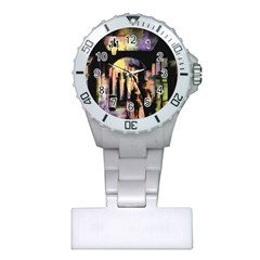 Street Colorful Abstract People Plastic Nurses Watch