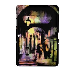 Street Colorful Abstract People Samsung Galaxy Tab 2 (10 1 ) P5100 Hardshell Case