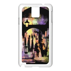 Street Colorful Abstract People Samsung Galaxy Note 3 N9005 Case (white)