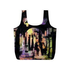 Street Colorful Abstract People Full Print Recycle Bags (s)