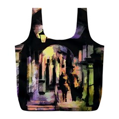 Street Colorful Abstract People Full Print Recycle Bags (l)