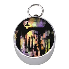 Street Colorful Abstract People Mini Silver Compasses
