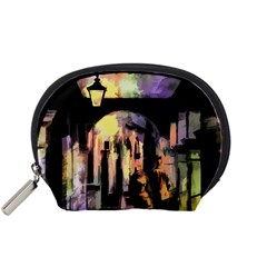 Street Colorful Abstract People Accessory Pouches (small)