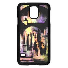 Street Colorful Abstract People Samsung Galaxy S5 Case (black)