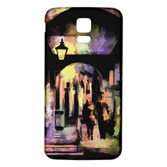 Street Colorful Abstract People Samsung Galaxy S5 Back Case (white)