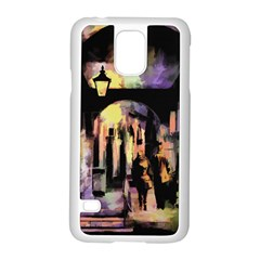 Street Colorful Abstract People Samsung Galaxy S5 Case (white)