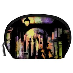 Street Colorful Abstract People Accessory Pouches (large)
