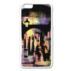 Street Colorful Abstract People Apple Iphone 6 Plus/6s Plus Enamel White Case